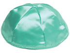 Sea Foam Green Satin Kippah