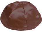 Brown Satin Kippah