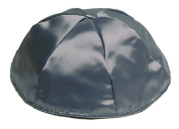 Dark Grey Satin Kippah