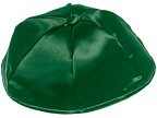 Forest Green Satin Kippot