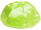 Lime Green Satin Kippot