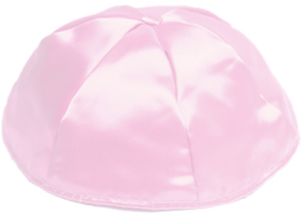 Light Pink Satin Kippah
