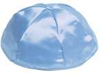Light Blue Satin Kippah