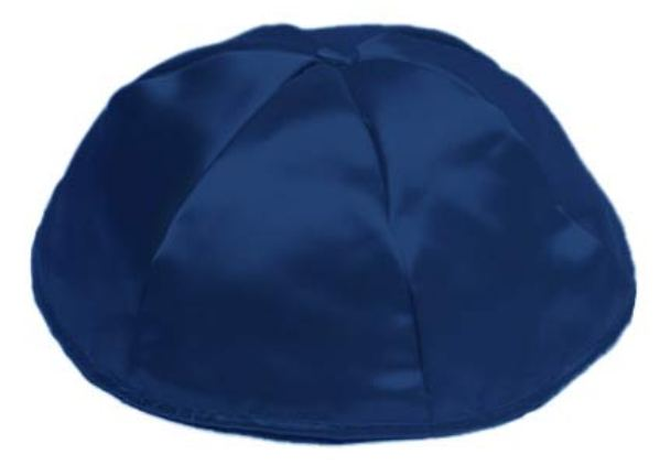 Navy Blue Satin Kippah