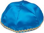 Turquoise  Satin Kippah