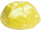 Yellow Satin Kippot