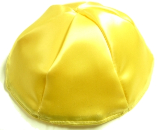 Yellow Satin Kippah