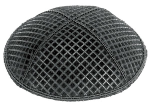 Small Square Pattern Design suede Kippah