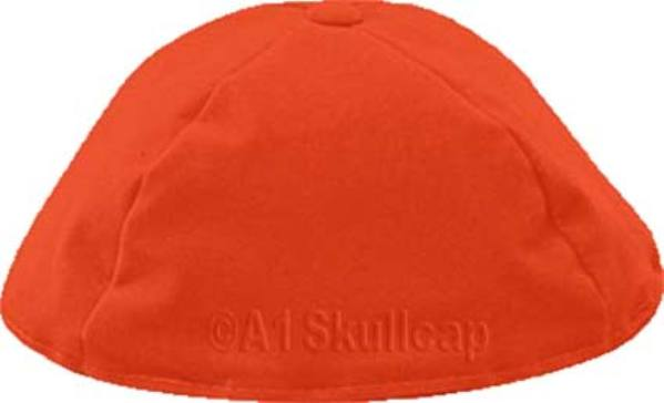 Burnt Orange Velour Kippah
