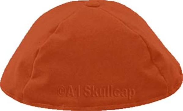 Rust Velour Kippah