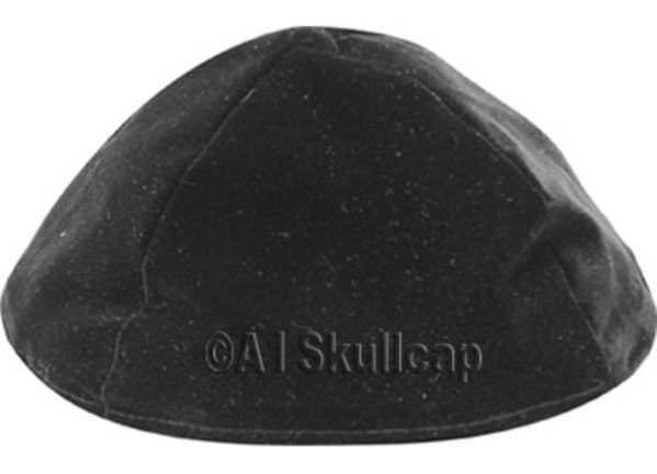 Black Velour Kippah