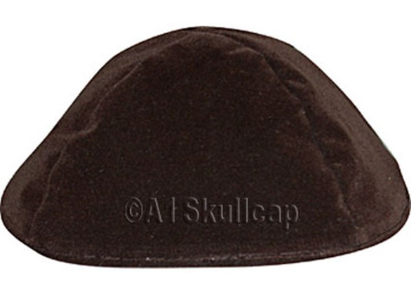 Brown Velour Kippah