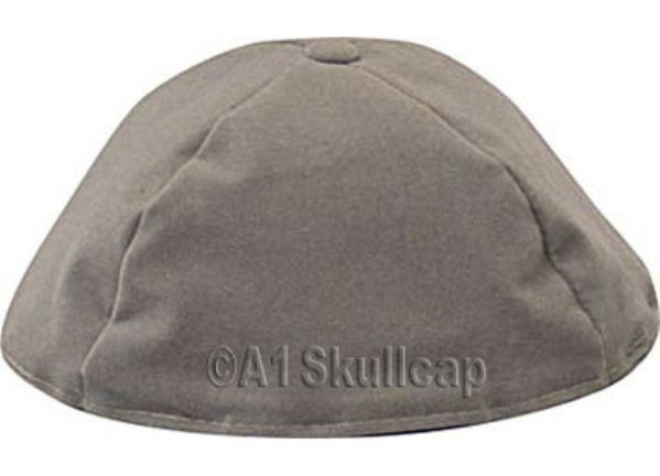 Gray Velour Kippah