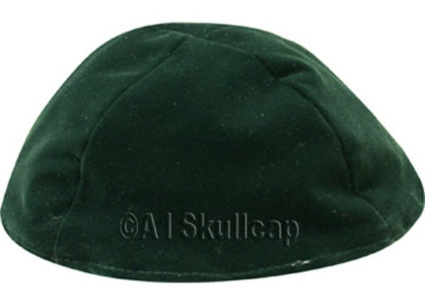 Forest Green Velour Kippah