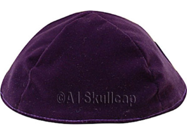 Purple Velour Kippah
