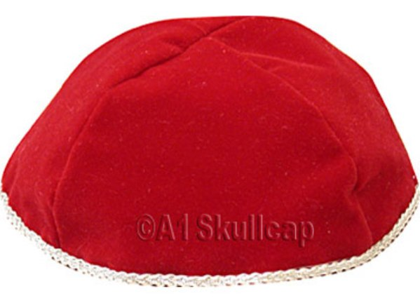 Red Velour Kippah
