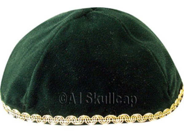 Forest Green Velvet Kippah