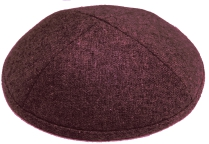Burgundy Wool Kippot