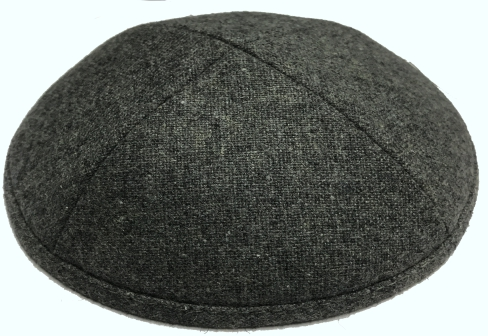 Dark Gray Wool Kippah
