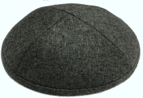 Dark Gray Wool Kippot