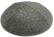 Gray Wool Kippot