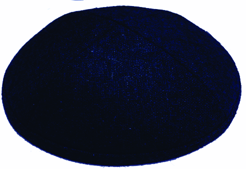 Navy Blue Wool Kippah