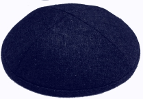 Navy Blue Wool Kippot